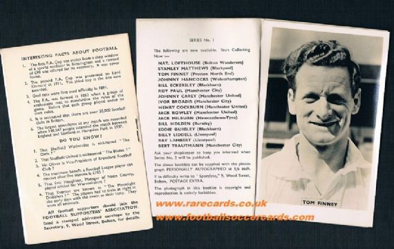 1951 Tom Finney Preston Sportfoto Folder